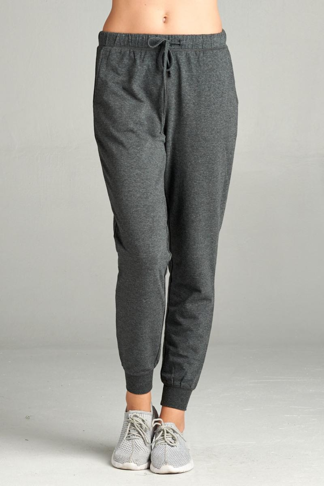 Active Basic Soft Drawstring Joggers - Front Cropped Image