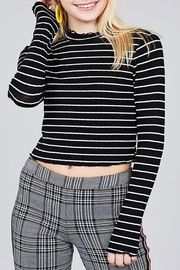 Active Basic Striped Crop Top - Product Mini Image