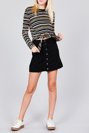 Active Basic Striped Tie Top - Product Mini Image