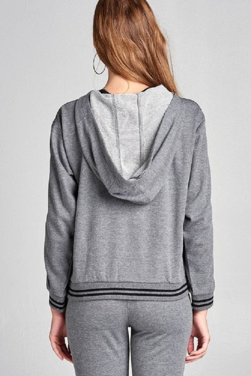 Active Basic Tie Up Hoodie - Side Cropped Image
