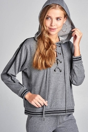 Active Basic Tie Up Hoodie - Front full body