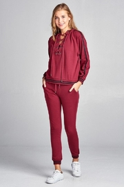 Active Basic Tie Up Hoodie - Side cropped