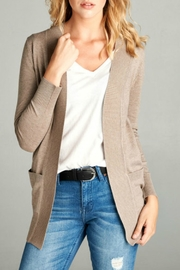 Active Basic Weekender Oatmeal Cardigan - Front cropped