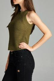 Active Style Olive Knit Tank - Side cropped