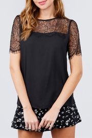 Active USA Black Lace Top - Product Mini Image