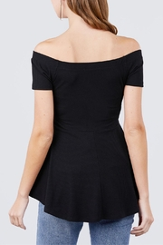 Active USA Black Peplum Top - Back cropped