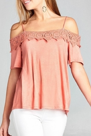Active USA Crochet Off-The-Shoulder Top - Product Mini Image