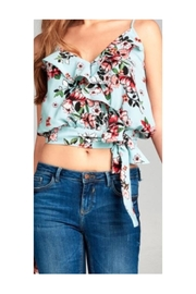Active USA Floral Ruffle Top - Product Mini Image