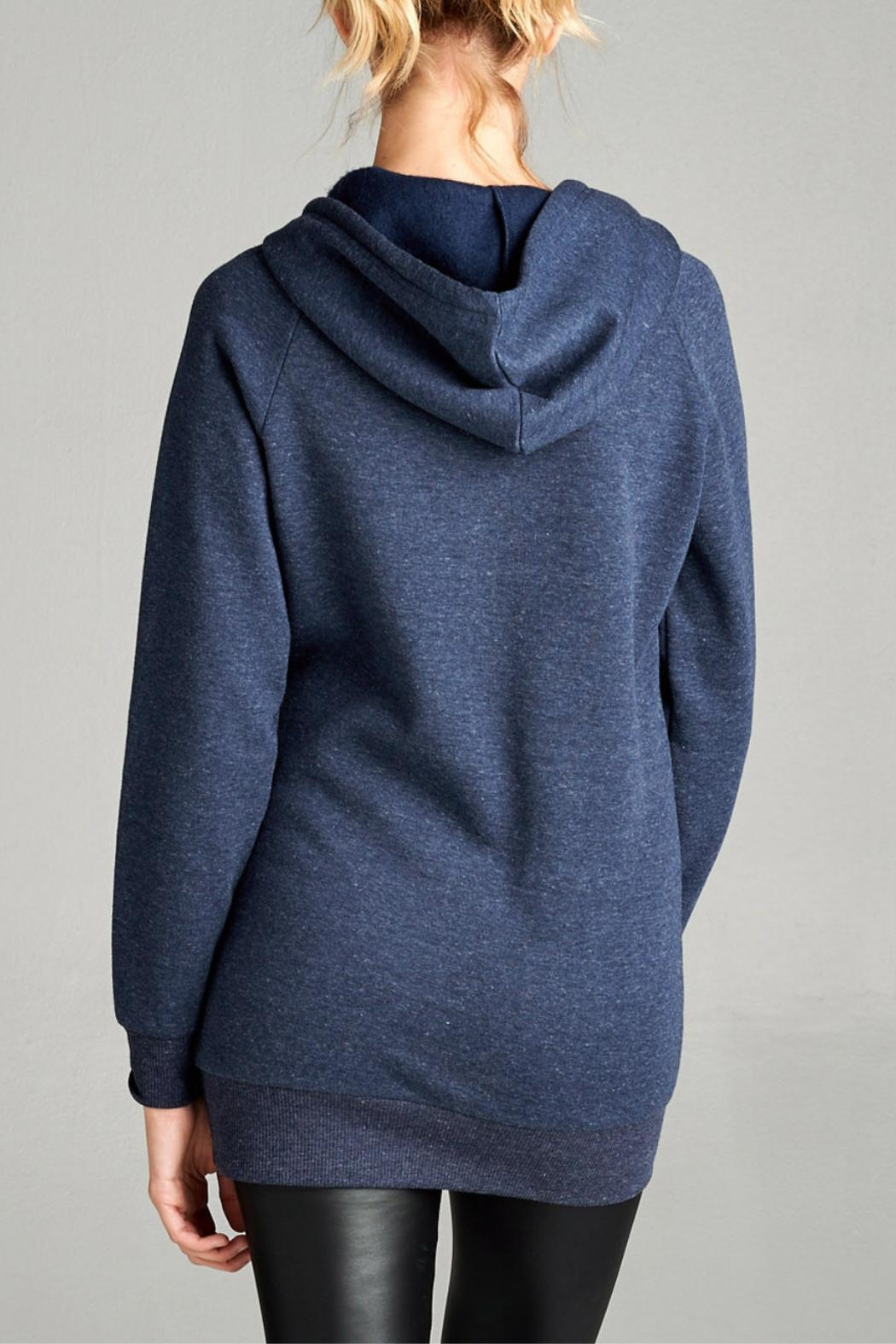 Active USA French Terry Hoodie - Back Cropped Image