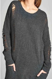 Active USA Gray Distressed Sweater - Front full body