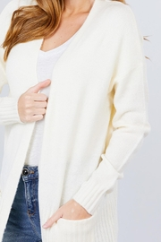 Active USA Ivory Open-Front Cardigan - Other
