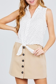 Active USA Khaki Button-Down Skirt - Product Mini Image