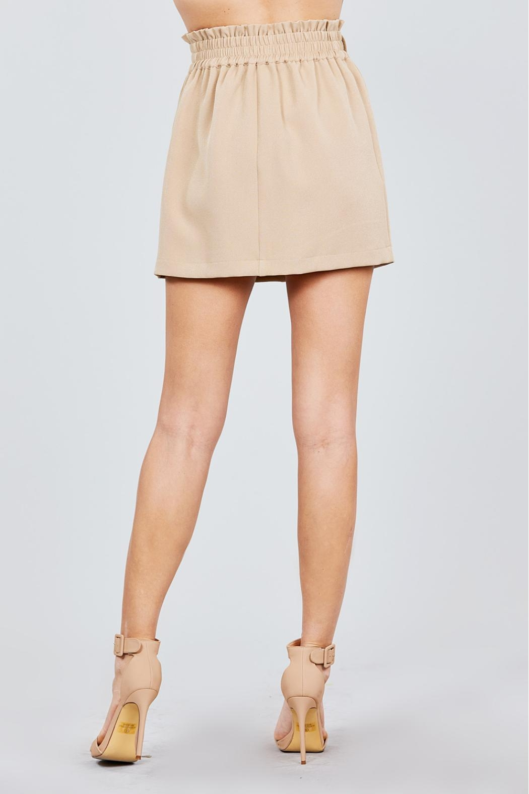 Active USA Khaki Button-Down Skirt - Back Cropped Image
