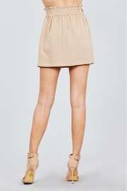 Active USA Khaki Button-Down Skirt - Back cropped