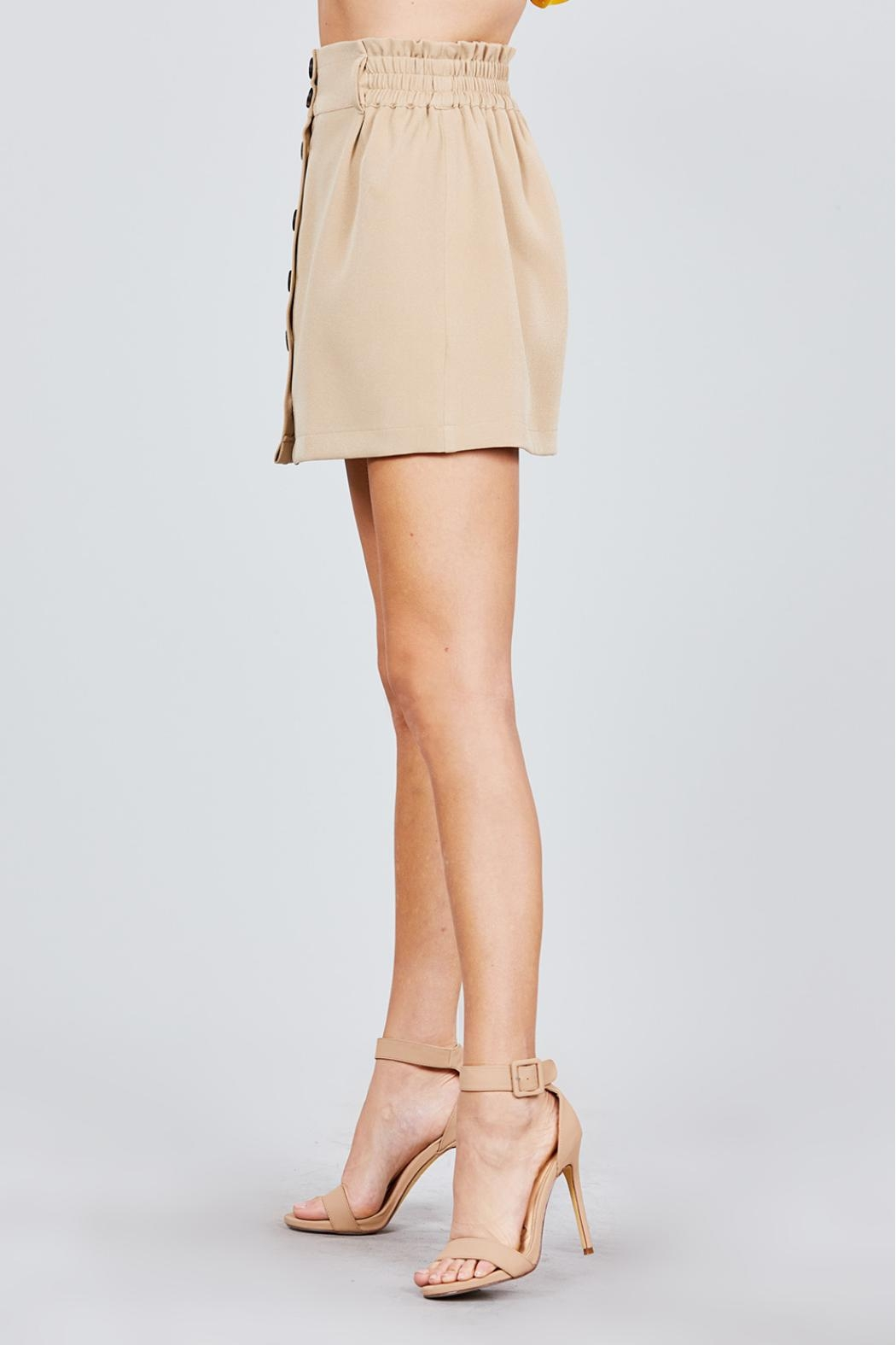 Active USA Khaki Button-Down Skirt - Side Cropped Image