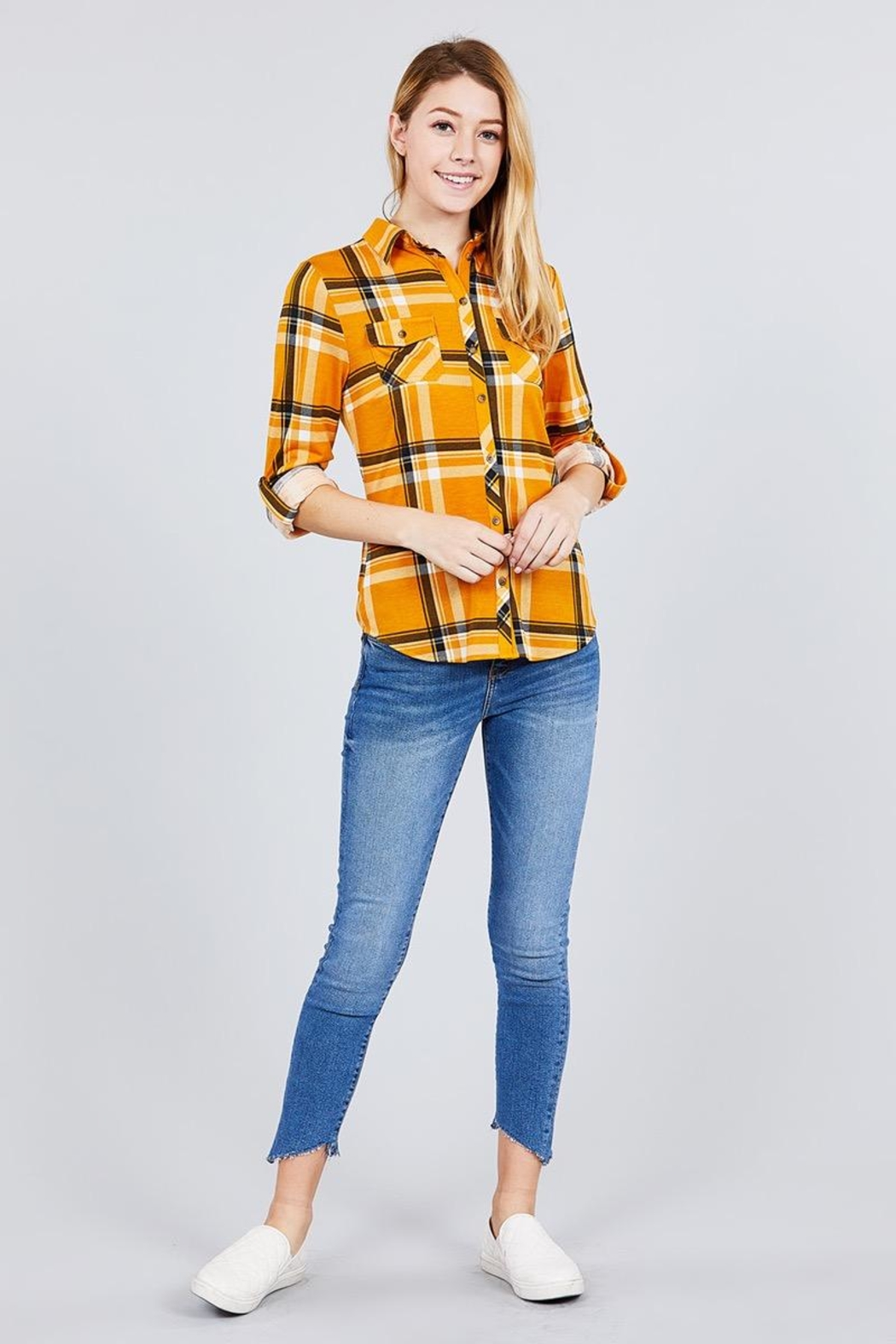 Active USA Mustard Flannel - Main Image