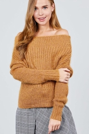 Active USA Off-Shoulder Knit Sweater - Product Mini Image
