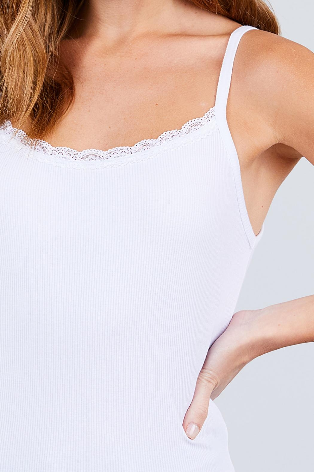 Active USA Off-White Rib Cami - Side Cropped Image