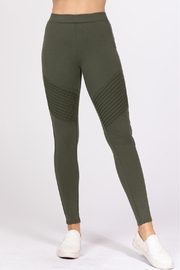 Active USA Olive Ponte Pants - Product Mini Image