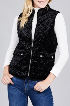 Active USA Quilted Velvet Vest - Product List Image