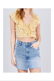 Active USA Ruffle Crop Top - Front cropped