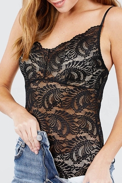 Active USA Stretch-Lace Cami Bodysuit - Product List Image