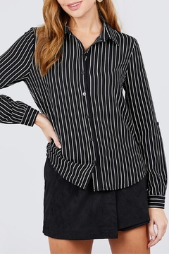 Active USA Striped Woven Top - Product List Image