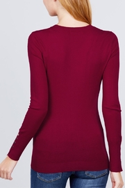 Active USA Wine V-Neck Sweater - Back cropped