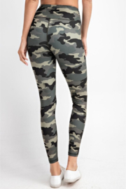 Madison Activewear Camouflage Leggings - Side cropped
