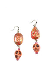 Shoptiques Product: Skull Stone Earrings