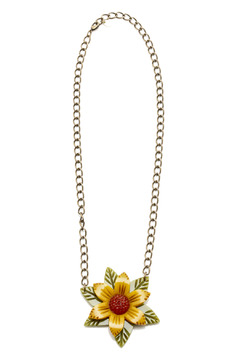 Shoptiques Product: Tri-Color Flower Necklace