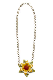 Hotcakes Design Tri-Color Flower Necklace - Product Mini Image