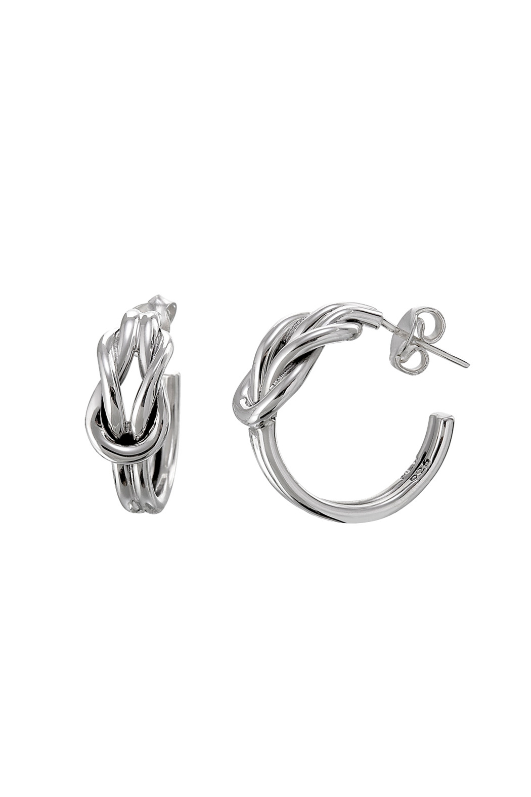 Salvador Jouhayerk Double Knot Hoop Earring - Front Cropped Image