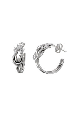 Salvador Jouhayerk Double Knot Hoop Earring - Alternate List Image