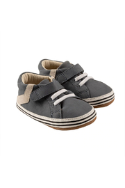 Robeez Adams First Kicks - Grey Leather - Front cropped