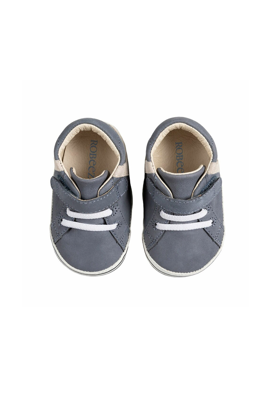 Robeez Adams First Kicks - Grey Leather - Front Full Image