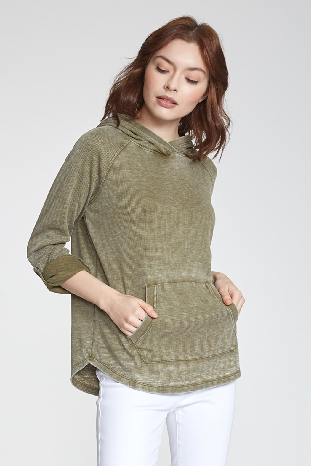 Another love  Addison Thermal Hoodie - Side Cropped Image