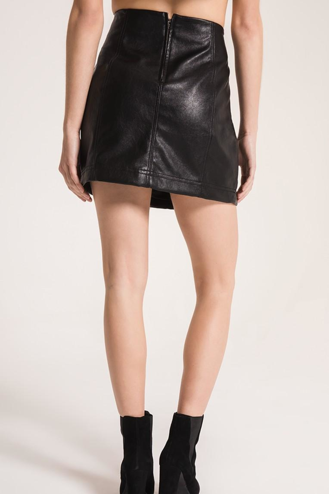 Others Follow  Adela Faux-Leather Skirt - Front Full Image