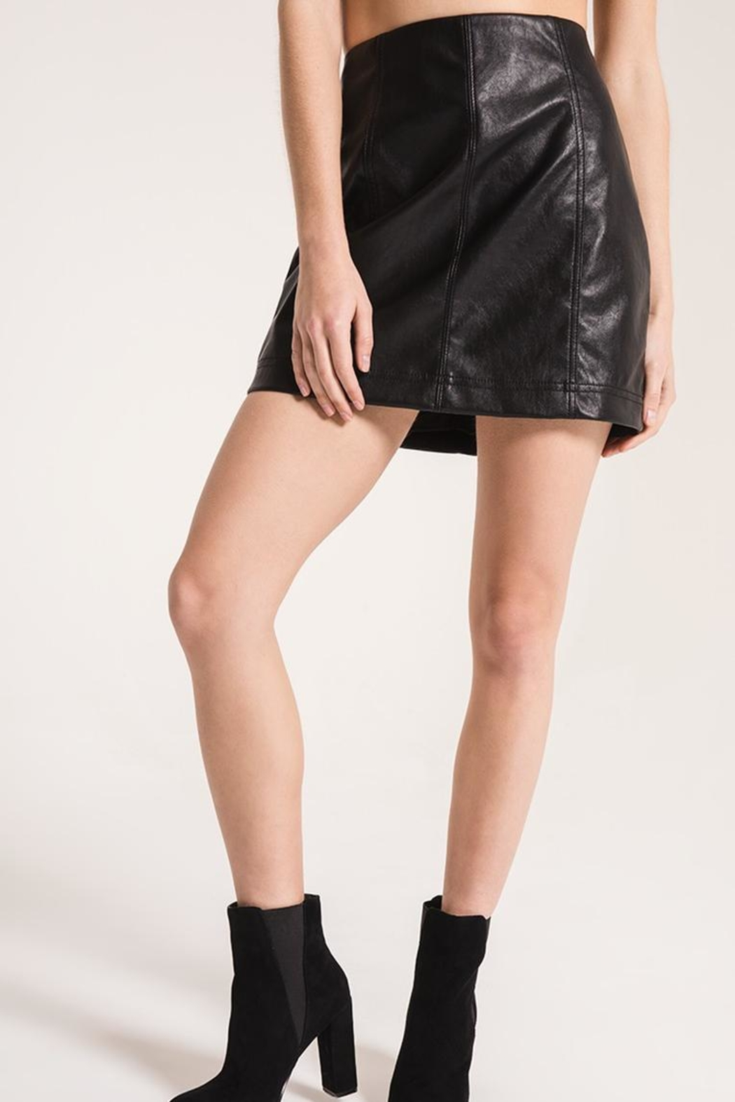 Others Follow  Adela Faux-Leather Skirt - Main Image