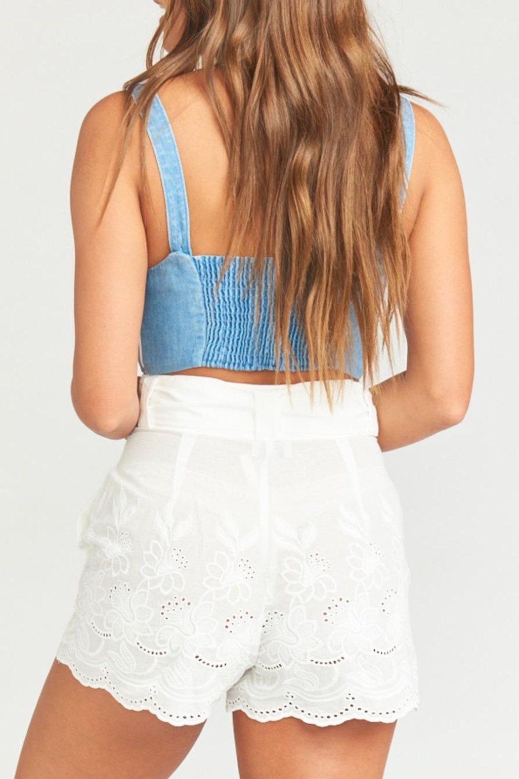 Show Me Your Mumu Adeline Crop Top - Back Cropped Image