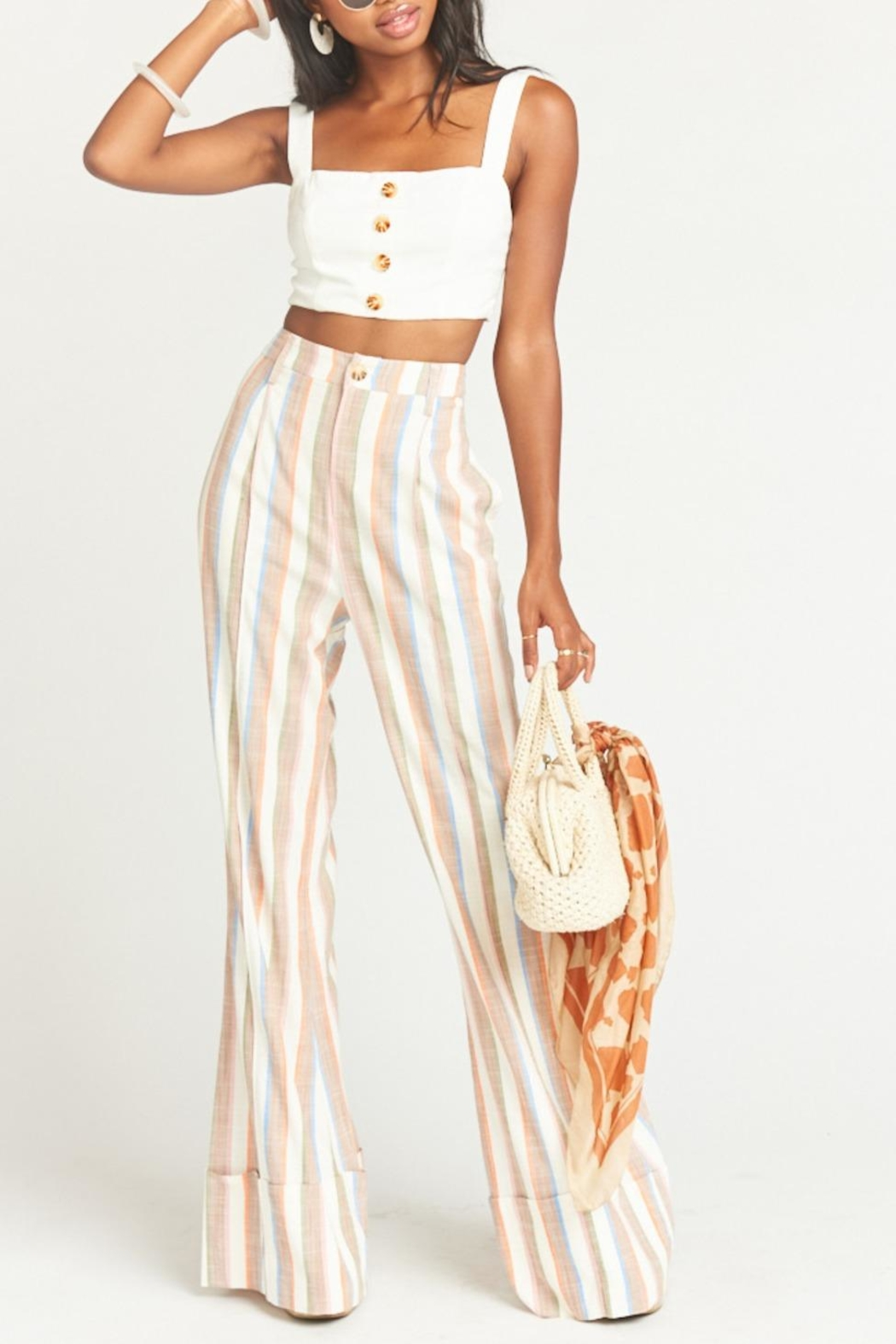 Show Me Your Mumu Adeline Crop Top - Side Cropped Image