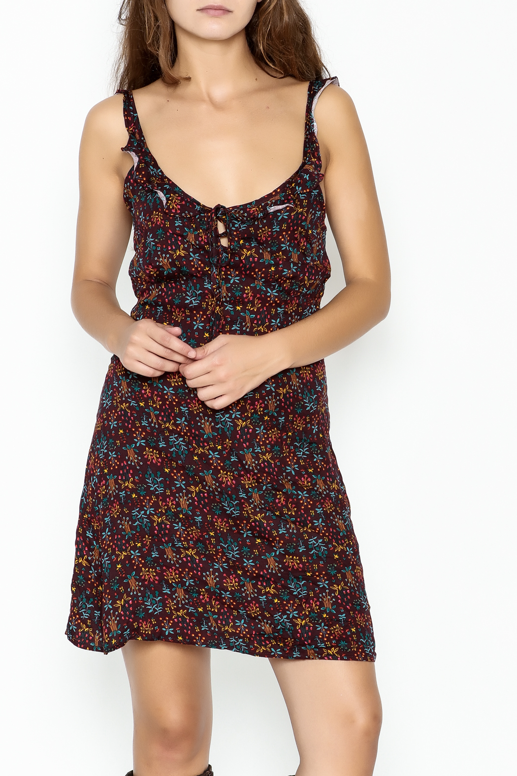 Adeline Floral Mini Dress - Front Cropped Image