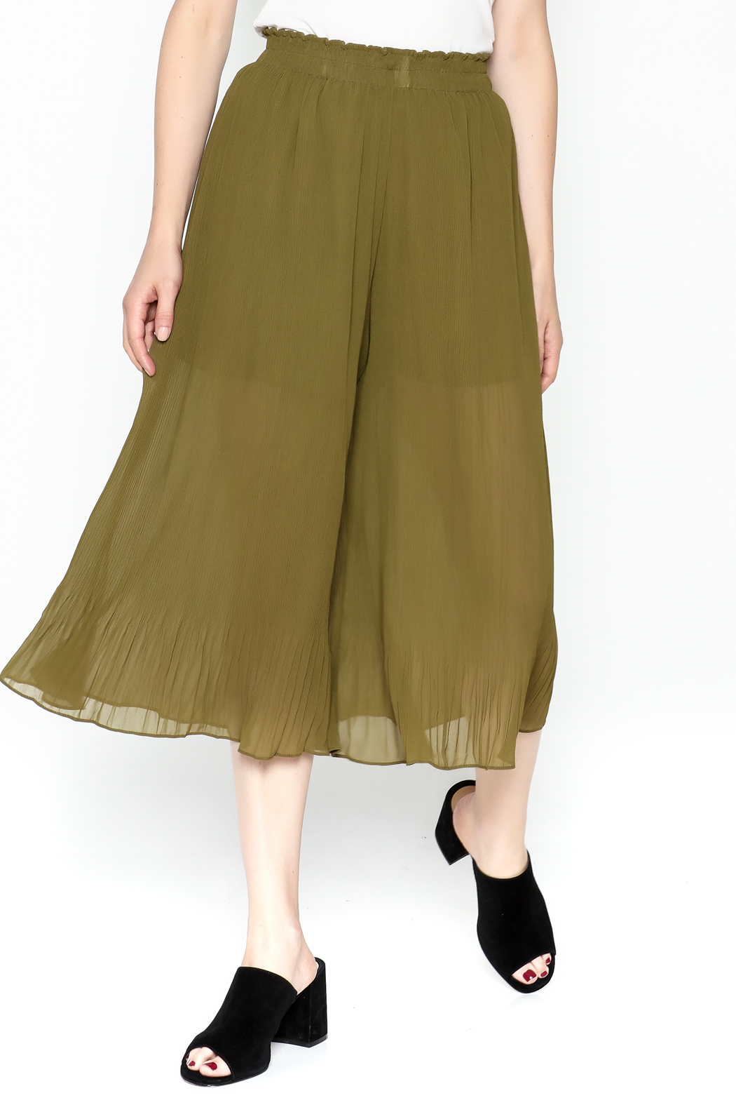 Adeline Pleated Capri Pants - Front Cropped Image
