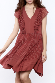 Adelyn Rae Ruffle Front Dress - Product Mini Image
