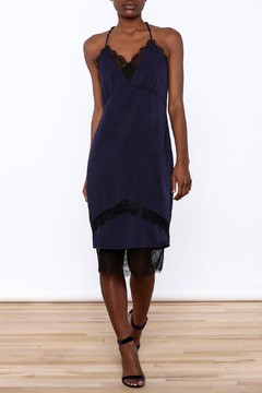 Adelyn Rae Satin Midi Length Slip Dress - Product List Image