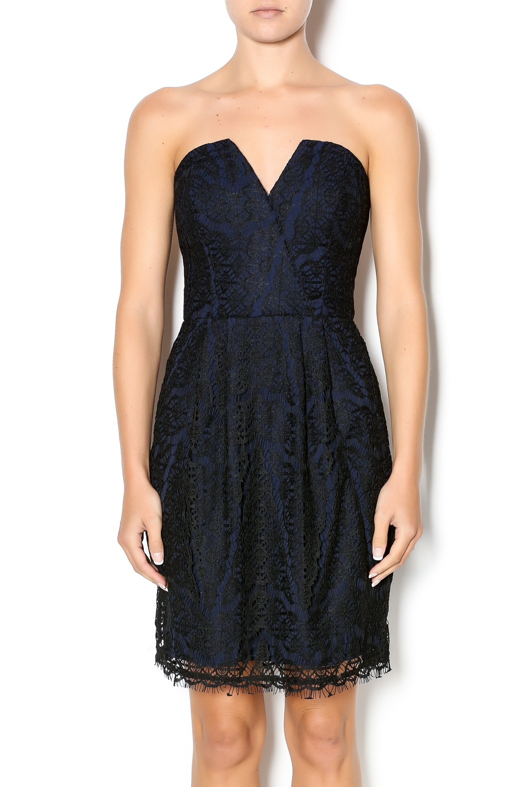 c551efdb Adelyn Rae Strapless Lace Dress from New York by Just B Boutique ...