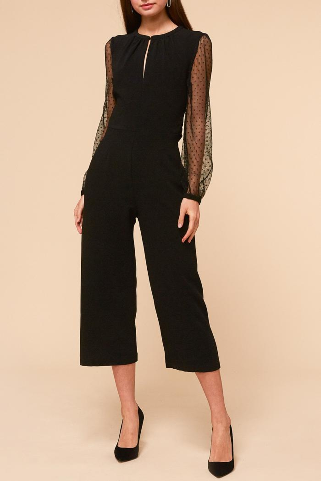 Adelyn Rae Alina Jumpsuit - Front Cropped Image