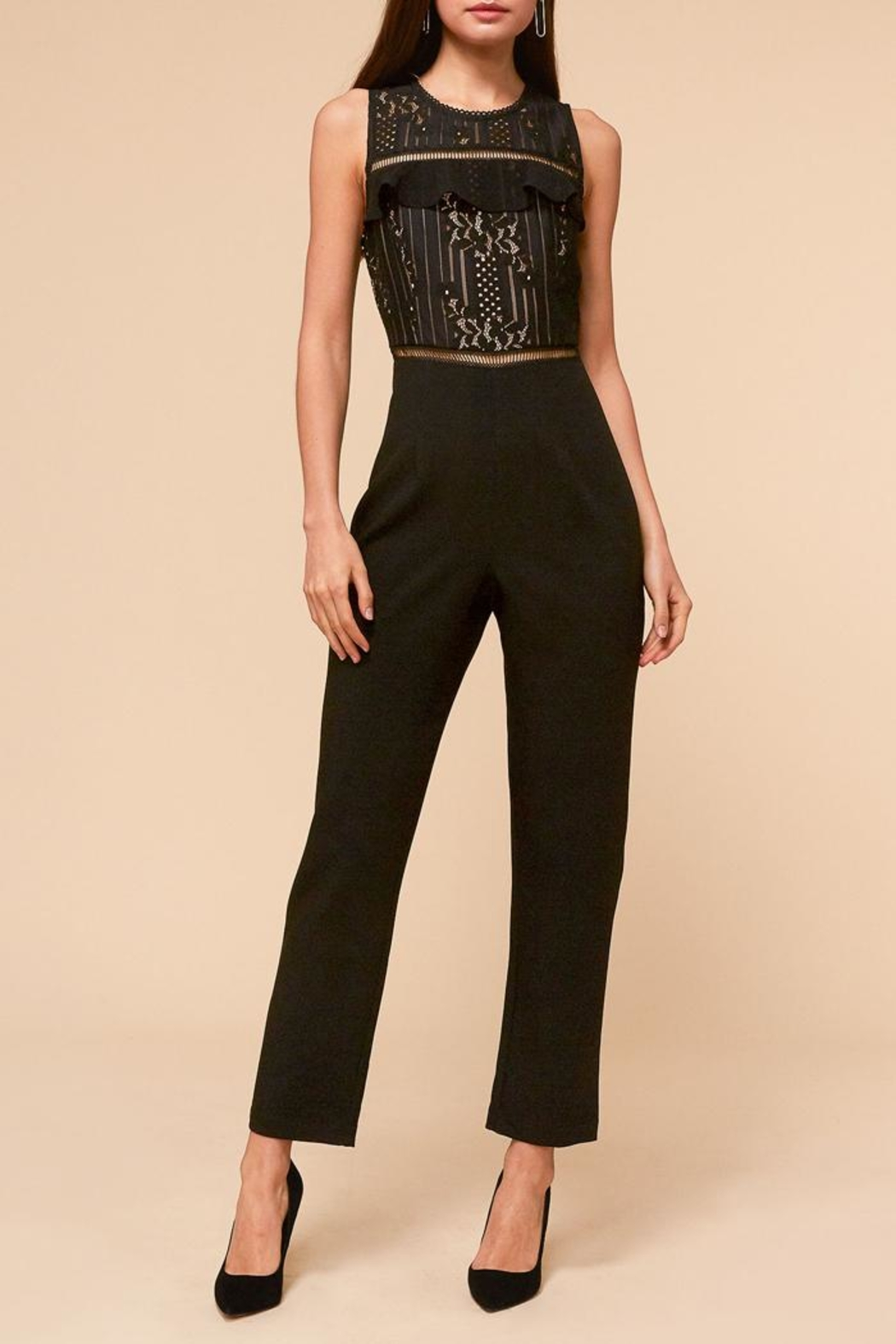Adelyn Rae Anna Lace Jumpsuit - Main Image