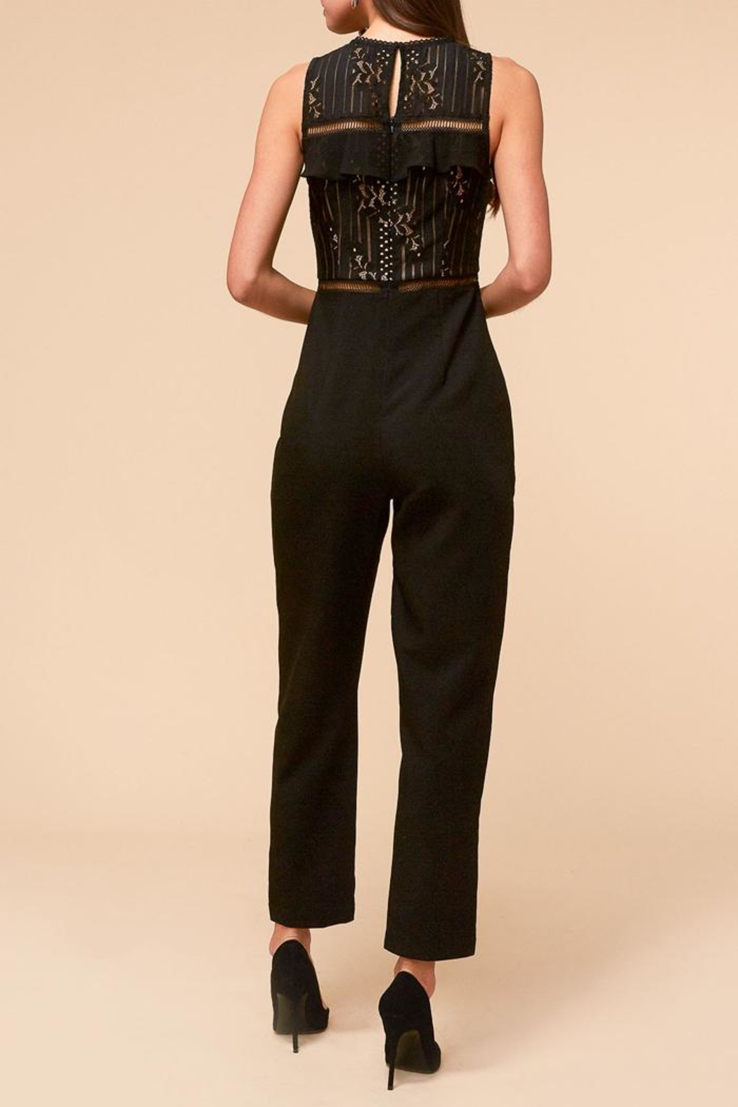Adelyn Rae Anna Lace Jumpsuit - Front Full Image