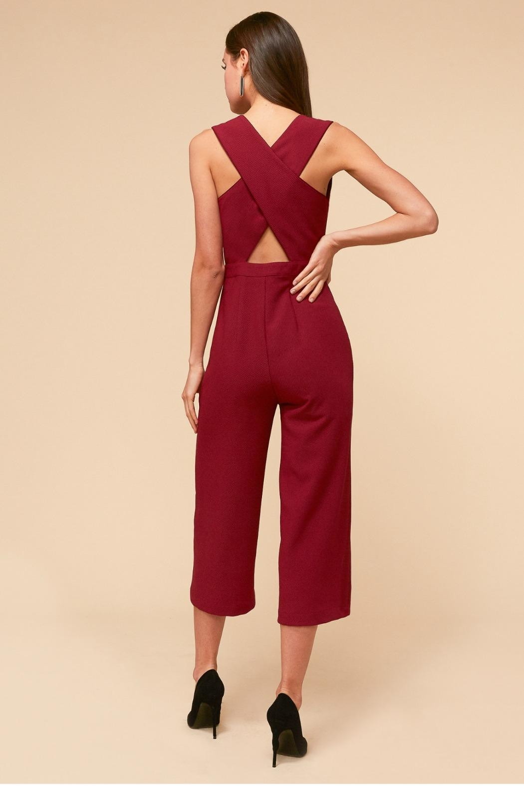Adelyn Rae Aries Culottes - Back Cropped Image